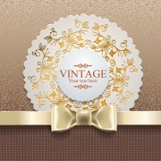 Exquisite lace vintage cards vector set 03 free