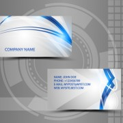 Modern style abstract business cards vector 03 free