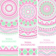 Tribal decorative pattern backgrounds vector 05 free
