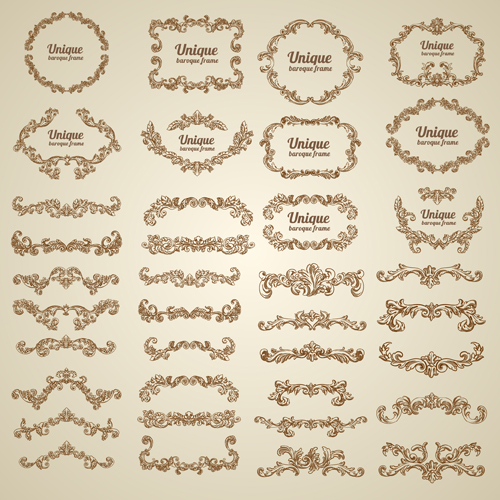 bdd1308cdd2f Vintage Floral Decorative Borders And Frames Vector For Free Download