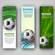 Abstract football vector banner graphic free