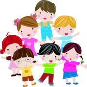 Creative cute kids vector free