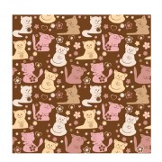 Cute cats vector seamless pattern free