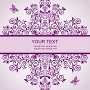 Elegant floral decor wedding invitation cards vector 01 free