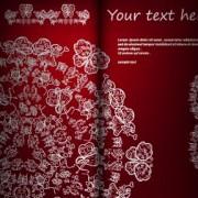 Floral ornate invitation card vector 03 free