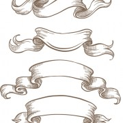 Hand drawn vintage ribbon benner vector 06 free