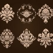 Ornamental floral damask elements vector 03 free
