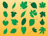 Vector Leaf Silhouette Art free