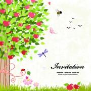 Elegant tree background vector 02 free