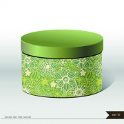 Floral package box cover vector 02 free