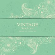 Gray vintage style floral invitations cards vector 04 free