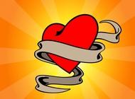 Love Heart Tattoo vector free