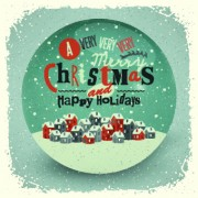 2014 Christmas with holiday retro style background vector 04 free