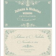 Decorative pattern wedding invitation cards vector set 02 free