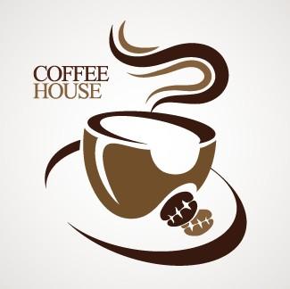 Coffee house creative logo design vector free free download for House logo design free