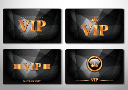 Glowing Vip card creative design vector set 04 free