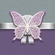 Elegant butterflies vintage card vector 05 free