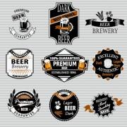 Retro beer labels vectors set 02 free