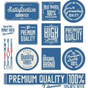 Vintage premium quality stickers and labels with banner vector 03 free
