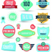 Vintage sale badges and label with stickers vector free
