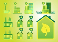 Green Home vector free