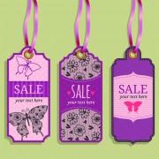 Vintage sale tags creative design set 02 free