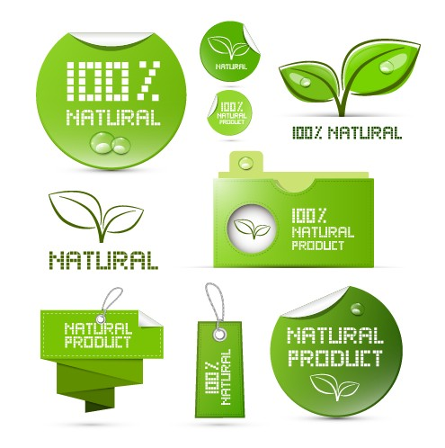 creative natural product stickers and labels vector 01 free free