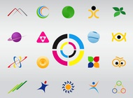 Logo Shapes vector free