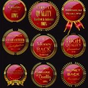 Golden wreaths sale labels vector 03 free