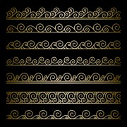 Ornate golden borders ornament vector 03 free