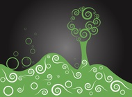 Tree On A Hill vector free