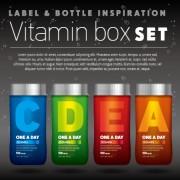 vitamin box design vector 01 free