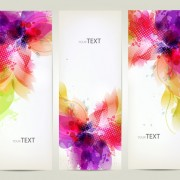 Watercolor flower vertical banner design 03 free
