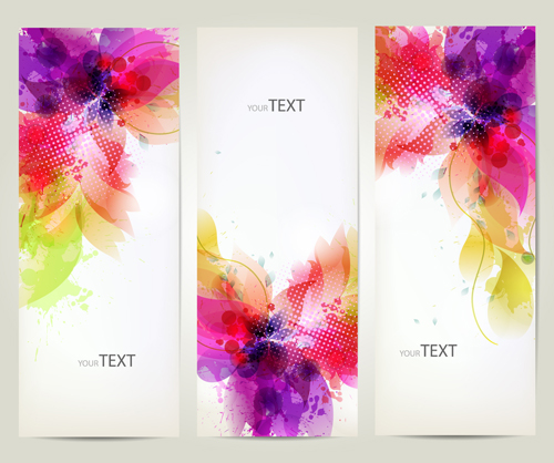 Watercolor Flower Vertical Banner Design 03 Free Free