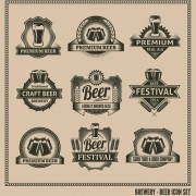 Classical beer labels creative vector 02 free
