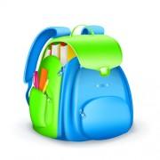 Cute school bag design vector 03 free