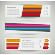 Creative banners web design vector graphics 05 free