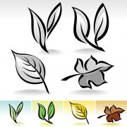 Simple leaf creative vector set 01 free