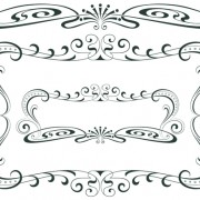 Vintage decor borders with frames design vector 01 free