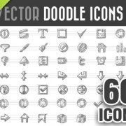 60 Kind doodle icons vector free