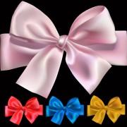 Creative bow design vector set 03 free