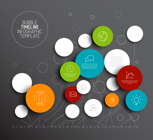 Colored circles infographic template vector graphics 01 free ...
