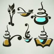 Abstract food logos creative design vector 05 free