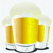 Beer and glass cup design graphic vector 03 free