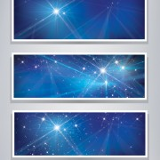 Shiny blue style banners vector graphics 02 free