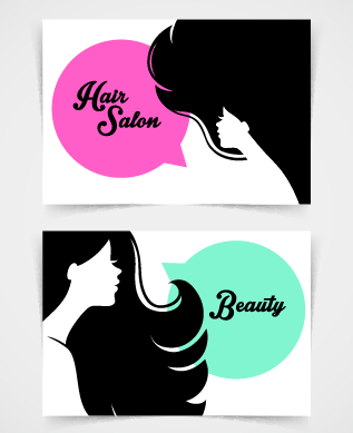 Exquisite beauty salon business cards vector 05 free | Free download