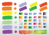 Paint Strokes vector free