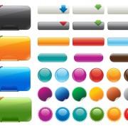 Vector web buttons creative design set 04 free