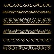 Ornate golden borders ornament vector 02 free