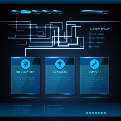 Blue web infographics template design vector 04 free free download blue web infographics template design vector 04 free maxwellsz